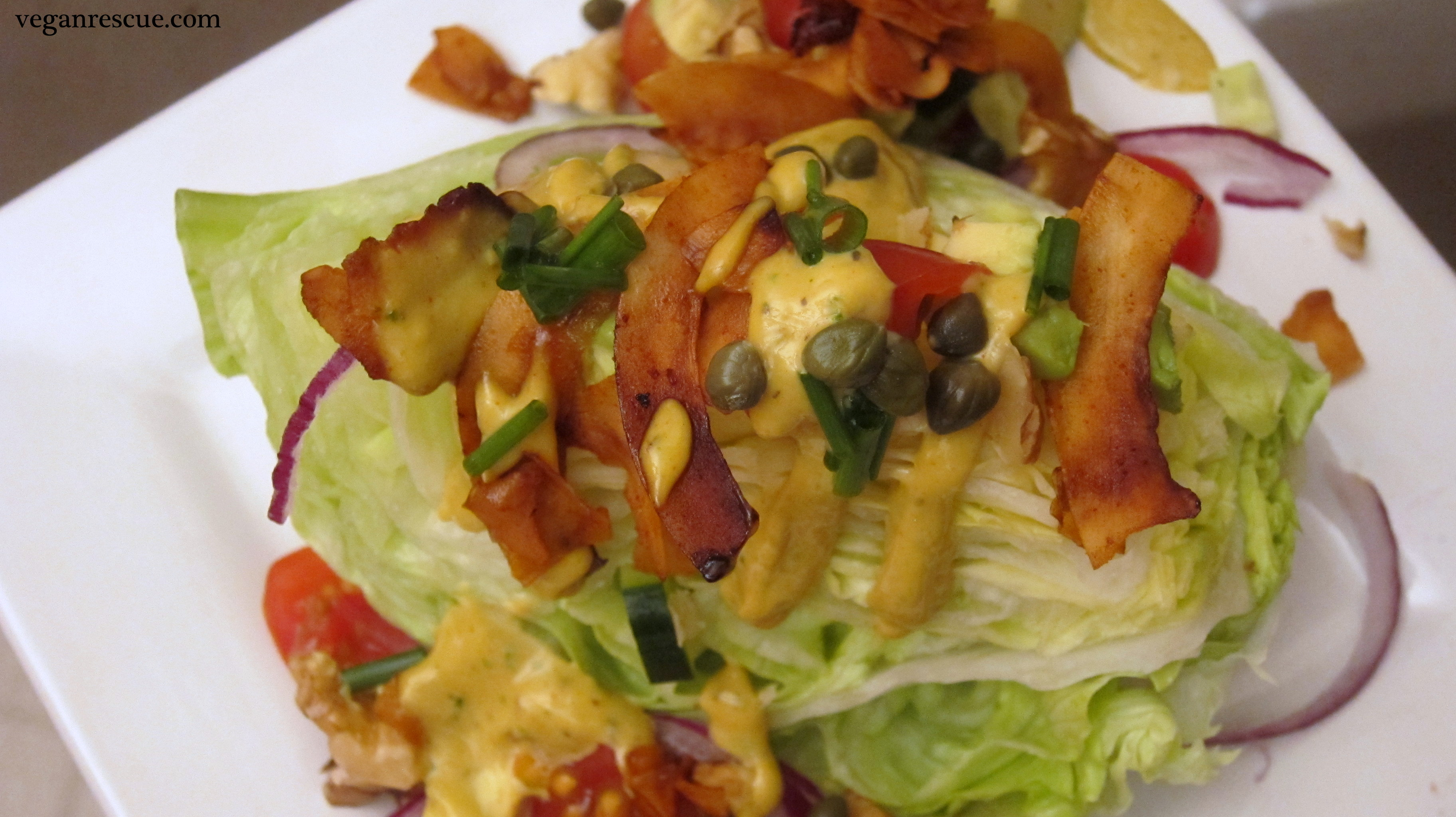 Iceberg Wedge Salad with Creamy Italian Dressing – Vegan ...